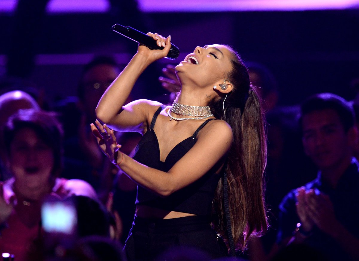 Recording artist Ariana Grande performs onstage during the 2016 Billboard Music Awards at T-Mobile Arena on May 22, 2016 in Las Vegas, Nevada.