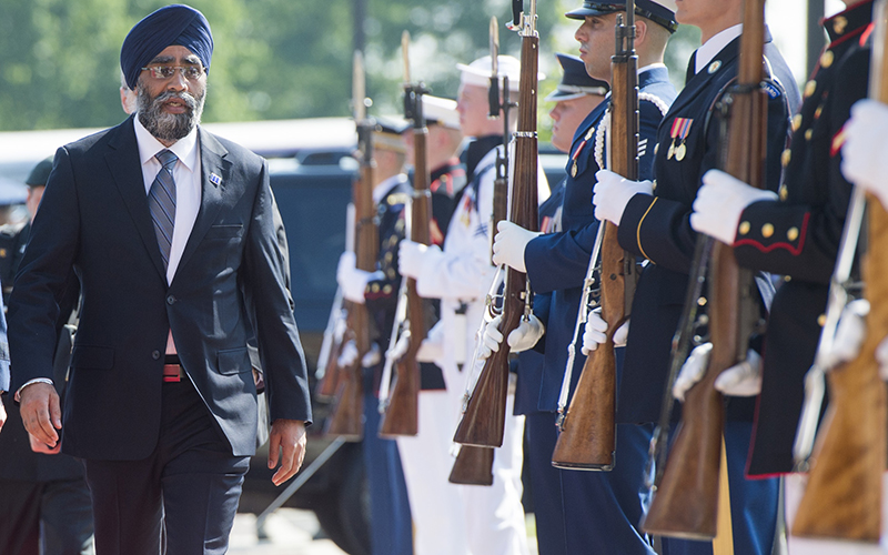 Canada is looking at significant new investments in defence, Harjit Sajjan said Thursday.