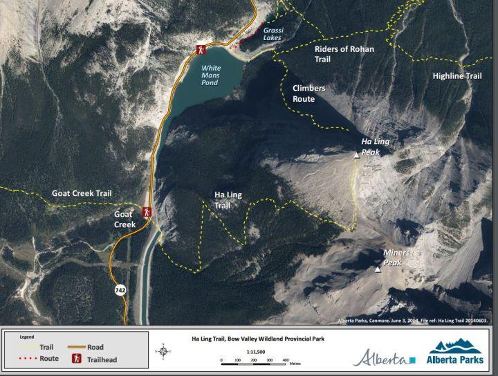 Ha Ling Peak map