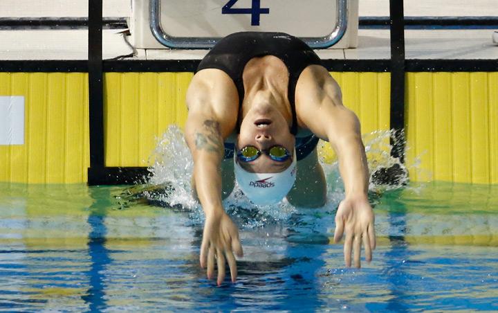 Hilary Caldwell at the Pan Am Games