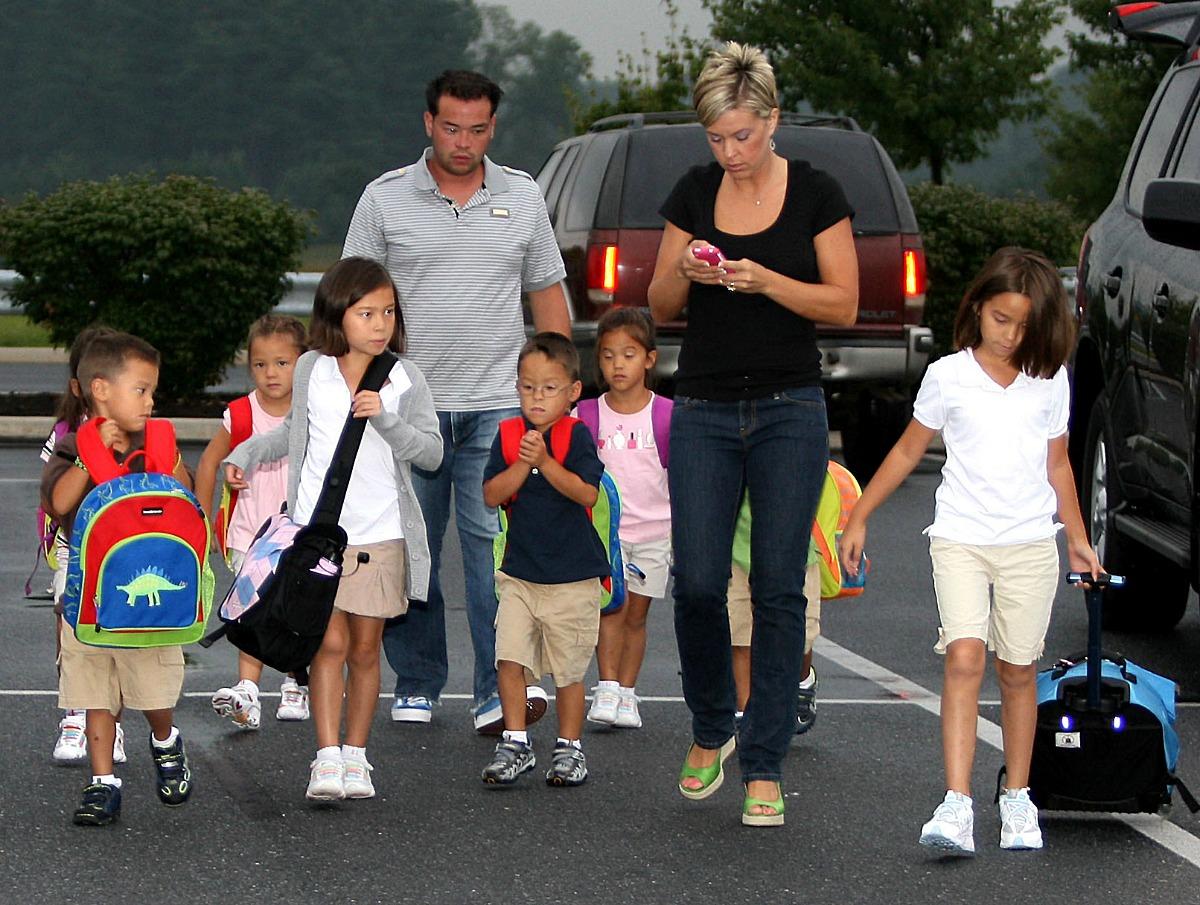 Jon and Kate Gosselin and their kids