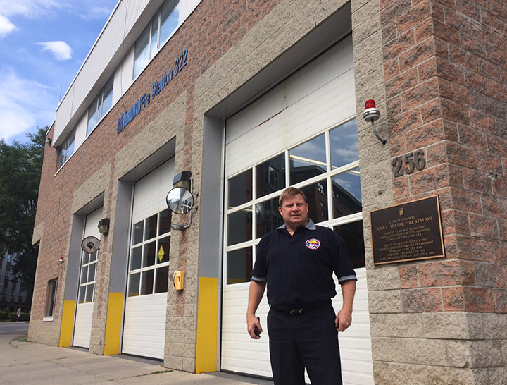 Capt. Kevin Doherty, a 28-year member of Toronto Fire Services, is advocating for additional supports for first responders who might have post-traumatic stress disorder.