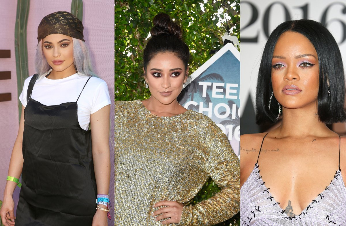 (L-R): Kylie Jenner, Shay Mitchell and Rihanna.