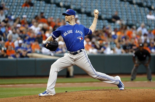 Toronto Blue Jays starting pitcher J.A. Happ has been named the team's opening-day starter.