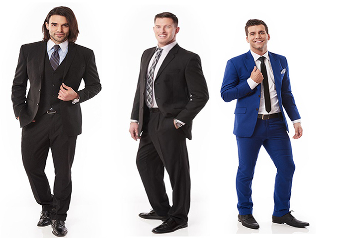 Three of the Bachelors vying for Jasmine Lorimer's heart on 'The Bachelorette Canada.'.