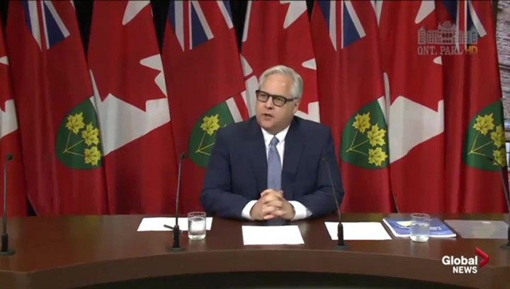 Ontario Ombudsman Paul Dube speaks to reporters during a news conference at Queen's Park in Toronto on June 29, 2016.