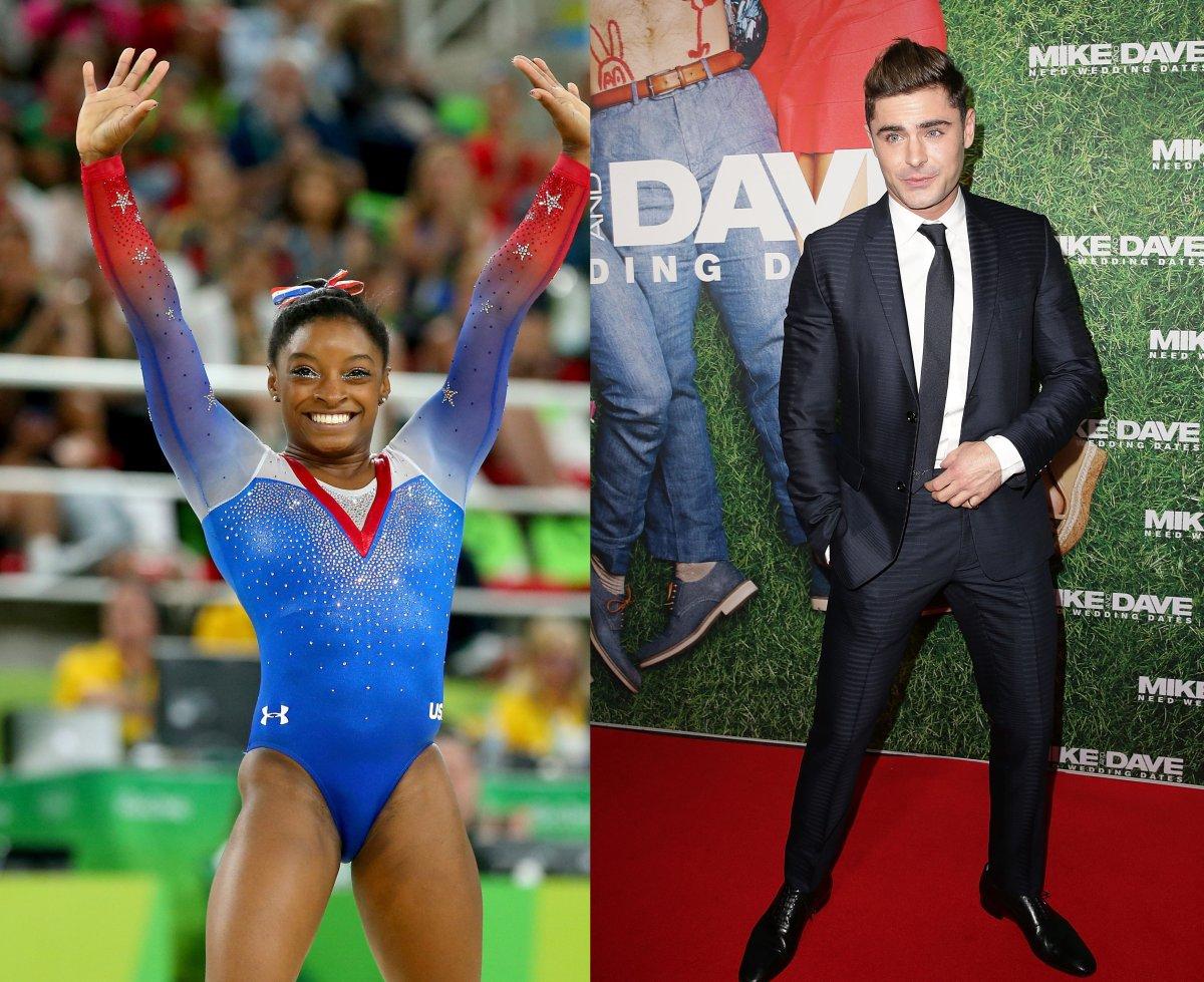 Simone Biles, United States gymnast, finally met her celebrity crush, Zac Efron.