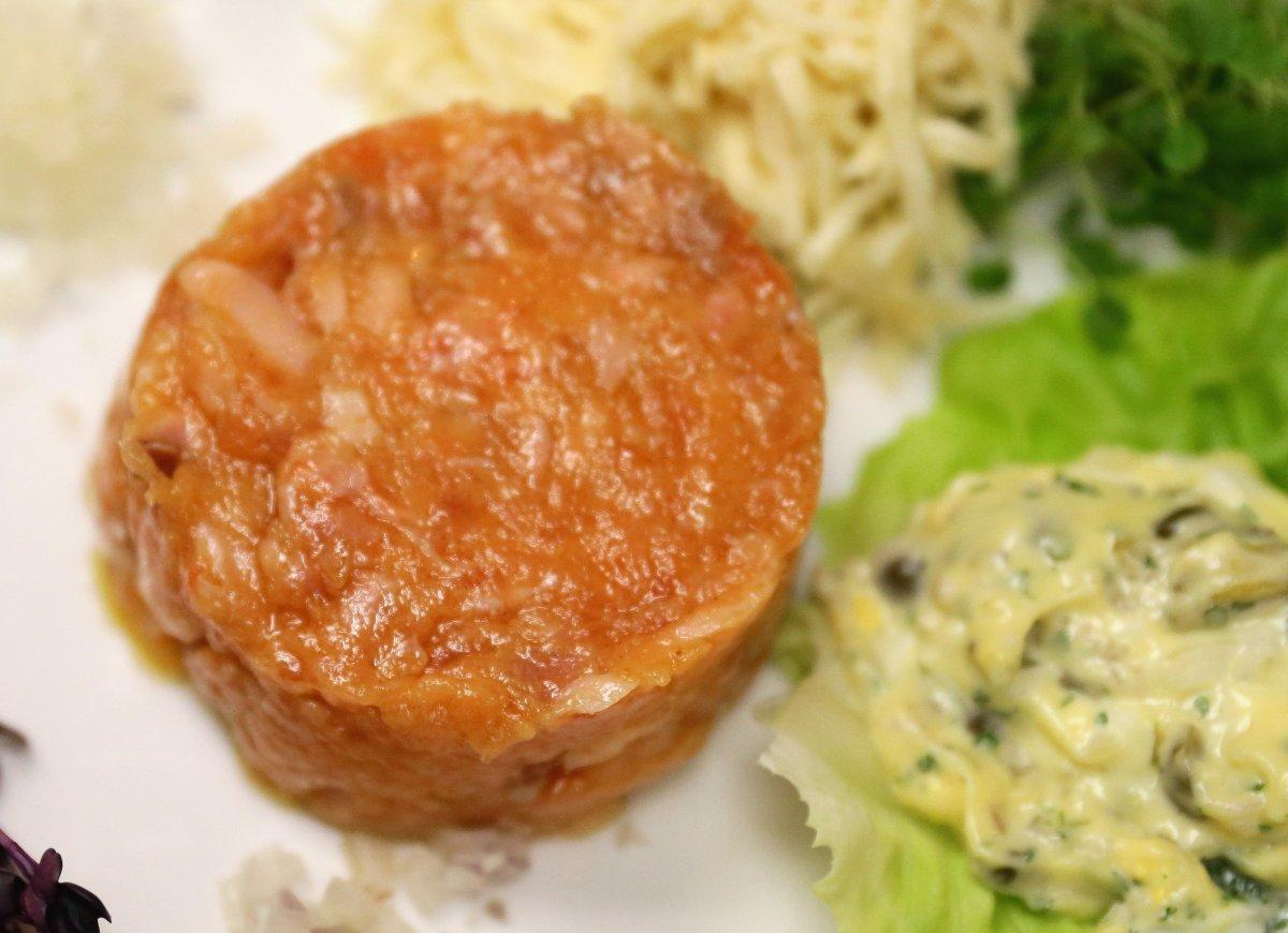 A stock image of salmon tartare.
