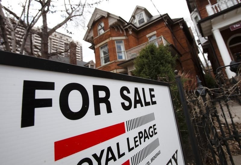 A house is seen for sale on the real estate market in Toronto.