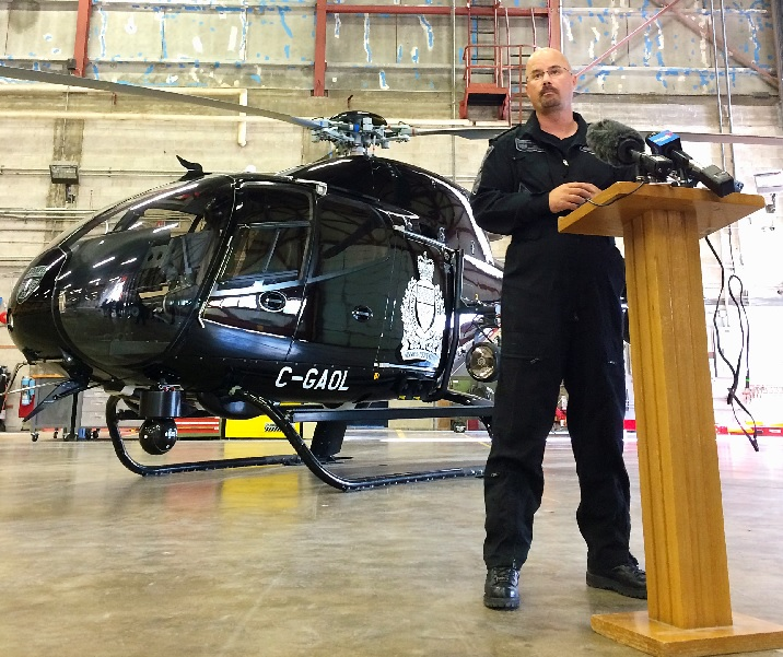 Winnipeg police Air1 helicopter.