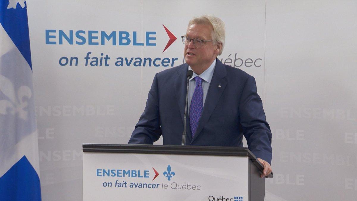 Quebec health minister Gaétan Barrette announced plans to improve seniors care in Quebec, Monday, September 19, 2016.