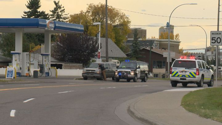 Roads blocked off near the Blackfoot Truckstop Saturday afternoon after a police incident.