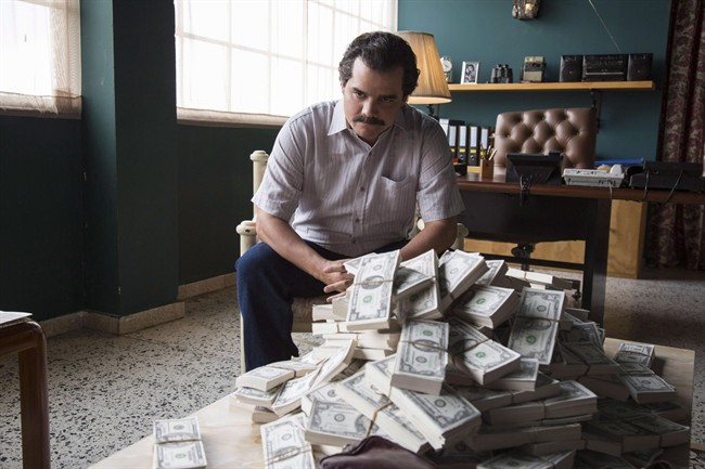 "Wagner Moura as Pablo Escobar in the Netflix Original Series ""Narcos.""."