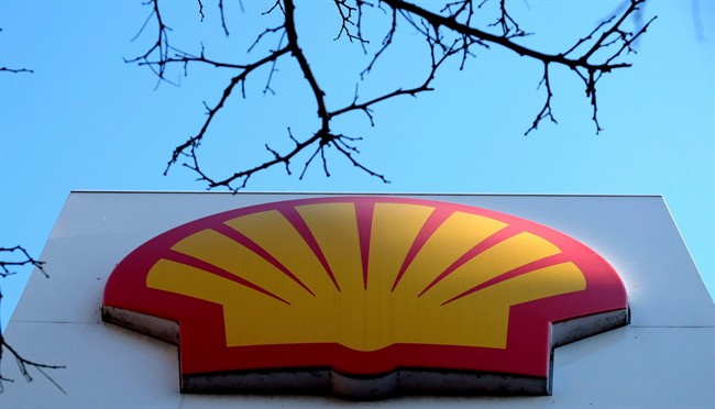 The Shell logo at a petrol station in London, Wednesday, Jan. 20, 2016.