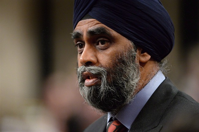 Defence Minister Harjit Sajjan answers a question during Question Period in the House of Commons in Ottawa on Thursday, June 9, 2016.