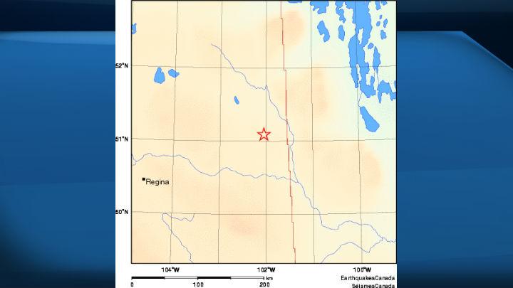 A 3.8 earthquake was felt detected in southeastern Saskatchewan, approximately 32 km SE of Yorkton.