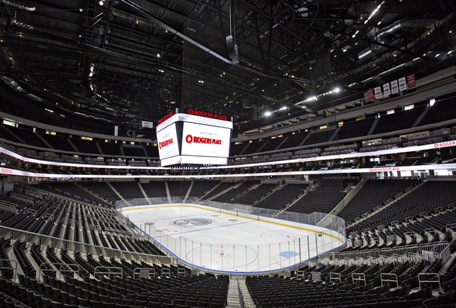 Roger's Place Arena, the new home of the Edmonton Oilers, in Edmonton, Alta., on Wednesday September 8, 2016.