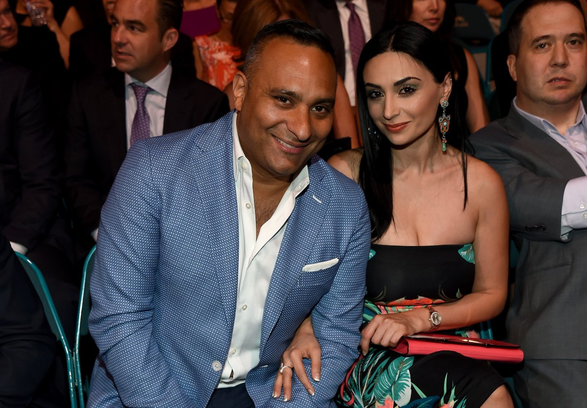 Comedian/actor Russell Peters (L) and Ruzanna Khetchian attend the 2015 NHL Awards at MGM Grand Garden Arena on June 24, 2015 in Las Vegas, Nevada.