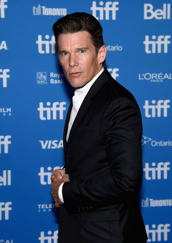 """Actor Ethan Hawke attends """"The Magnificent Seven"""" press conference during the 2016 Toronto International Film Festival at TIFF Bell Lightbox on September 8, 2016 in Toronto, Canada. (Photo by Kevin Winter/Getty Images)"""