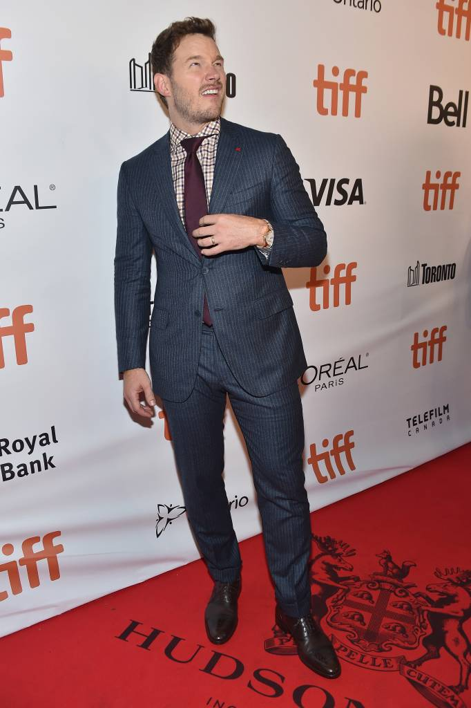 """Actor Chris Pratt attends """"The Magnificent Seven"""" premiere during the 2016 Toronto International Film Festival at Roy Thomson Hall on September 8, 2016 in Toronto, Canada."""