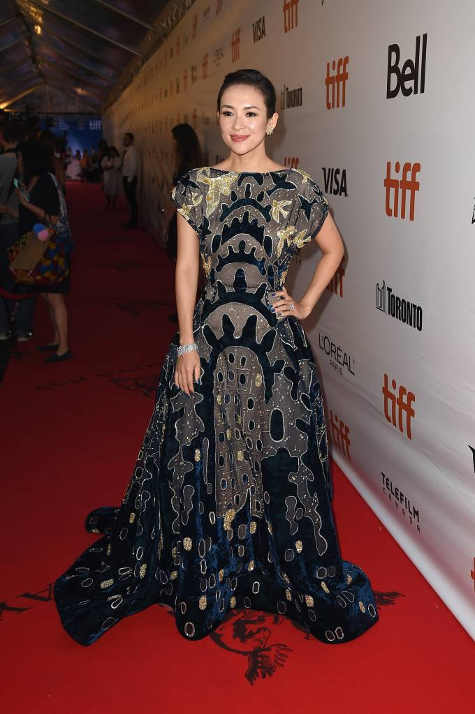 """Actress Ziyi Zhang attends """"The Magnificent Seven"""" premiere during the 2016 Toronto International Film Festival at Roy Thomson Hall on September 8, 2016 in Toronto, Canada. (Photo by )"""