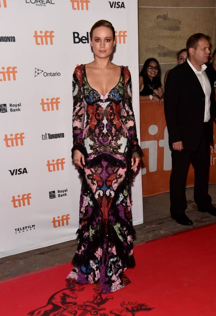 """Actress Brie Larson attends the """"Free Fire"""" premiere during the 2016 Toronto International Film Festival at Ryerson Theatre on September 8, 2016 in Toronto, Canada. (Photo by Alberto E. Rodriguez/Getty Images)"""