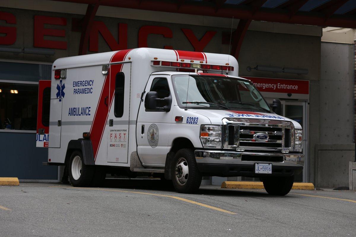 BC Ambulance emergency vehicle