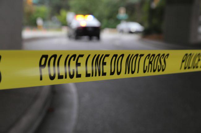 Police tape crime
