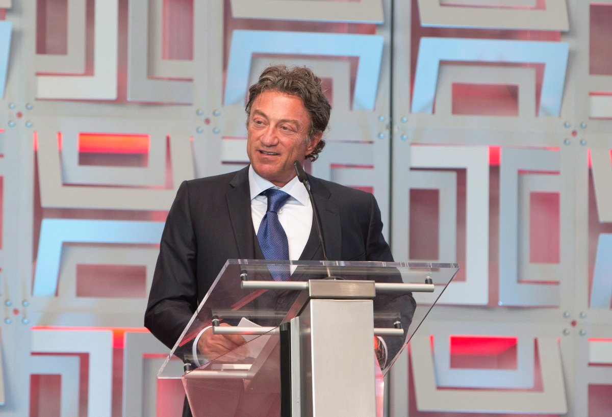 Edmonton Oilers owner Daryl Katz speaks during the ribbon cutting ceremony at Rogers Place Arena, the new home of the Edmonton Oilers, in Edmonton, Alta., on Thursday, September 8, 2016.