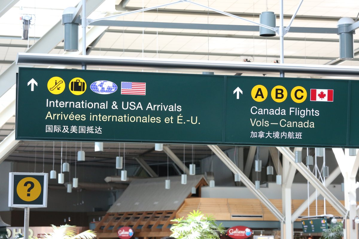 YVR Vancouver International Airport International and US arrivals