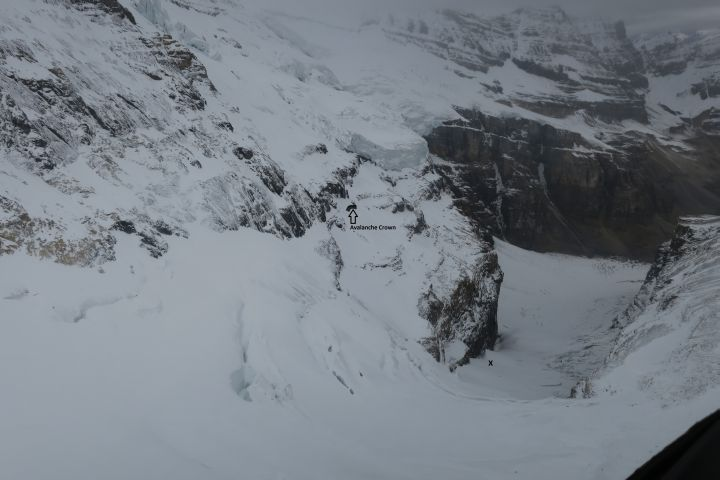 One skier died in an avalanche west of Lake Louise Sunday, Sept. 25, 2016.
