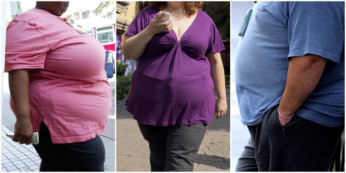 Over one in eight adults are now obese -- a ratio that has more than doubled since 1975 and will swell to one in five by 2025, a major survey reported April 1, 2016. Of about five billion adults alive in 2014, 641 million were obese, the data showed -- and projected the number will balloon past 1.1 billion in just nine years.  / AFP        (Photo credit should read ROBYN BECK,RONALDO SCHEMIDT,PAUL ELLIS/AFP/Getty Images).