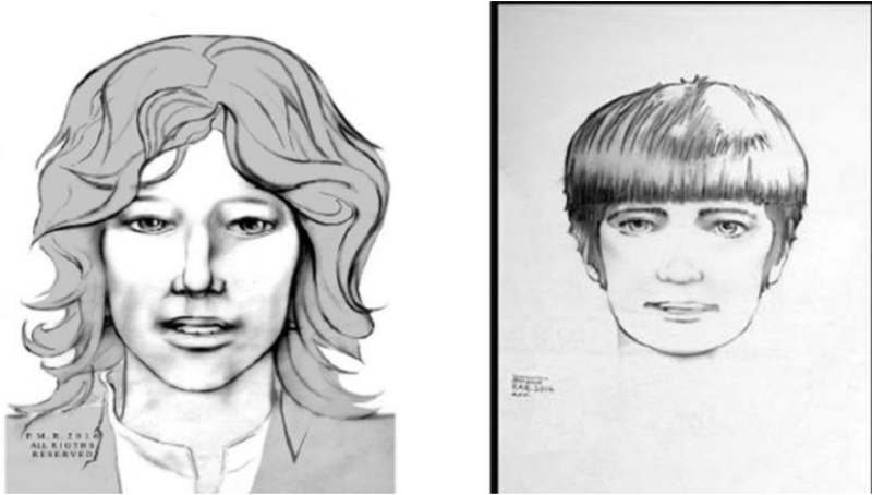 Sketches released by the LAPD show two men wanted in connection with the 1969 cold case murder of Reet Jurvetson.