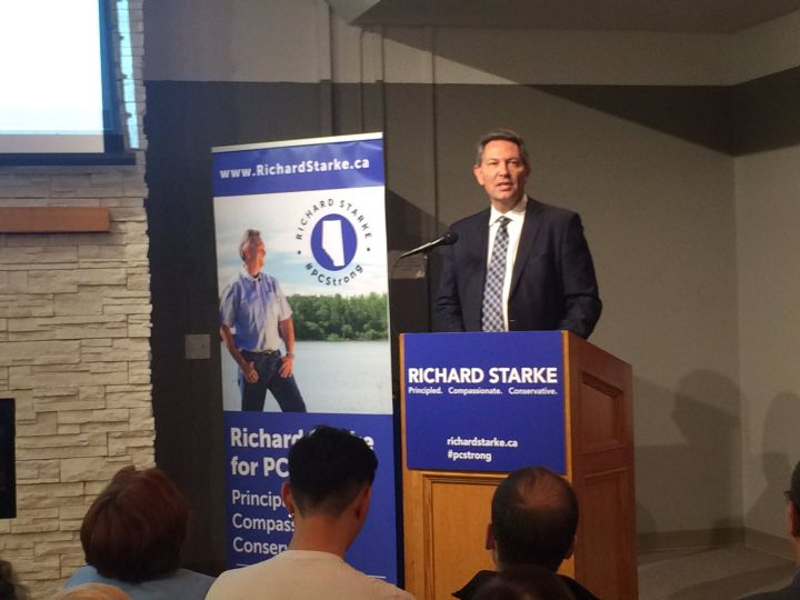 Richard Starke throws his hat into the race for Alberta PC leadership Thursday, Sept. 29, 2016.