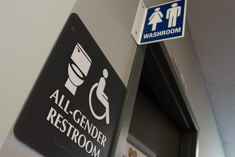 All gender bathroom pictured at St. Lawrence College in Kingston Ont., on May 17, 2016.