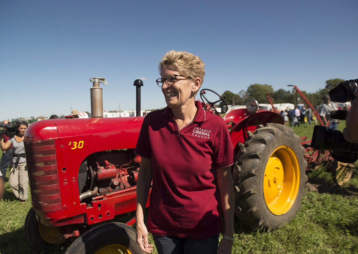 Ontario Premier Kathleen Wynne promising help for farmers and small business with the minimum wage hike.