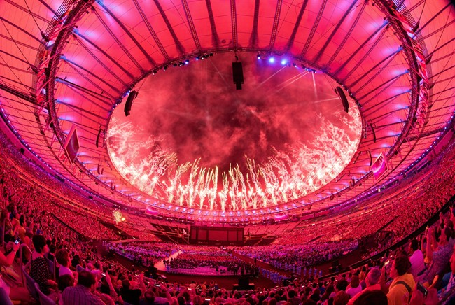 In this photo released by the IOC, fireworks are shown over the roof during the Closing Ceremony of the Rio 2016 Paralympic Games at the Maracanã Stadium in Rio de Janeiro, Brazil , Sunday, Sept. 18, 2016.