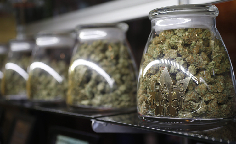 Marijuana is offered for sale in Denver, Co. in this file image.