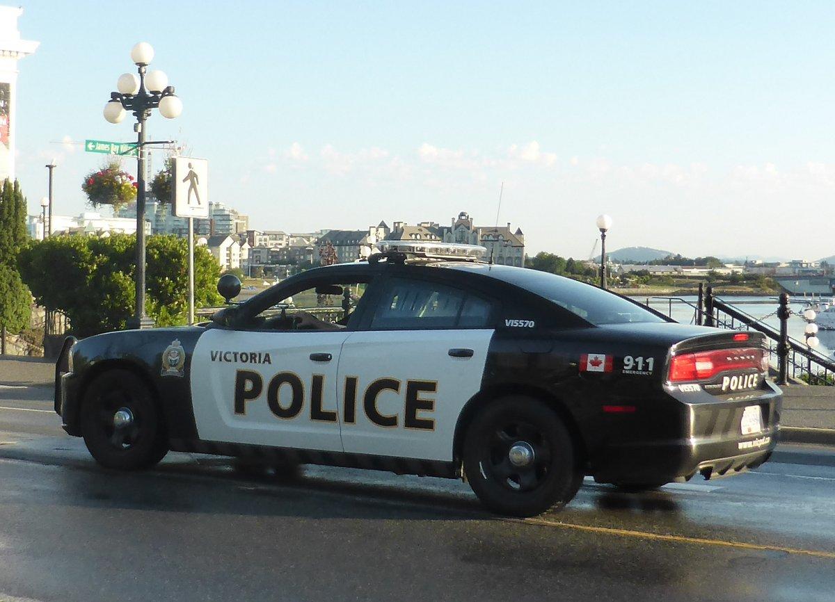 A police cruiser in Victoria, B.C.