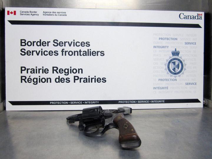 Saskatchewan Canada Border Service Agency seizes overcapacity magazines, revolver, marijuana-infused fudge during September.