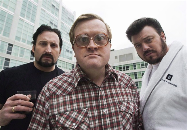 The Trailer Park Boys John Paul Tremblay, as Julian, left, Mike Smith, as Bubbles, centre, and Robb Wells, as Ricky, right, pose for a photograph in Toronto on Thursday, November 27, 2008.