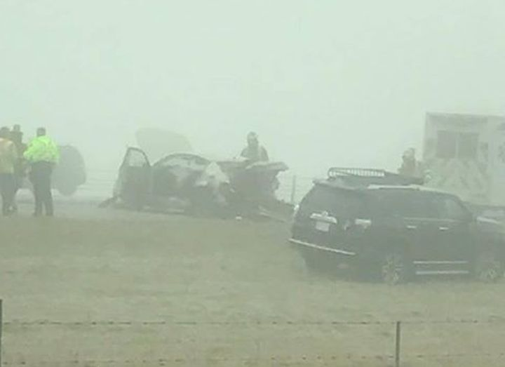 A four-vehicle crash on Alberta's QEII highway Saturday morning resulted in three women being taken to hospital.