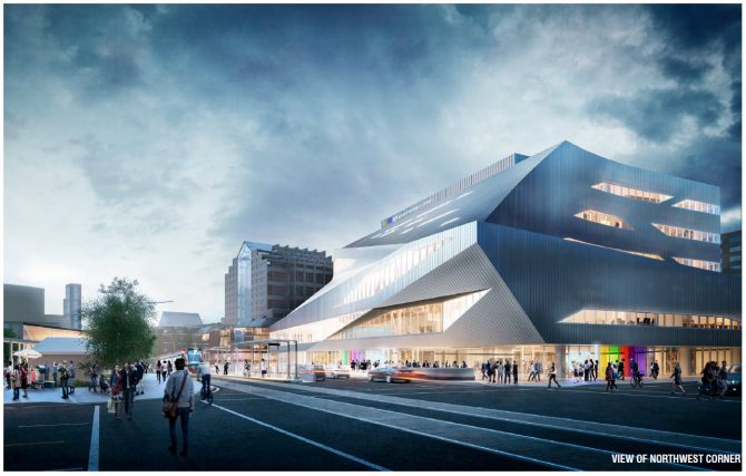 A rendering of Edmonton's Stanley A. Milner Library which goes under construction in January 2017.