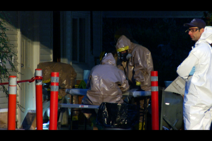 Investigators on scene in Abbotsford after a meth lab was found.