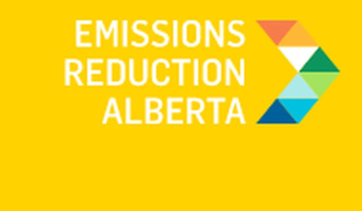 The new logo for Emissions Reduction Alberta is shown.