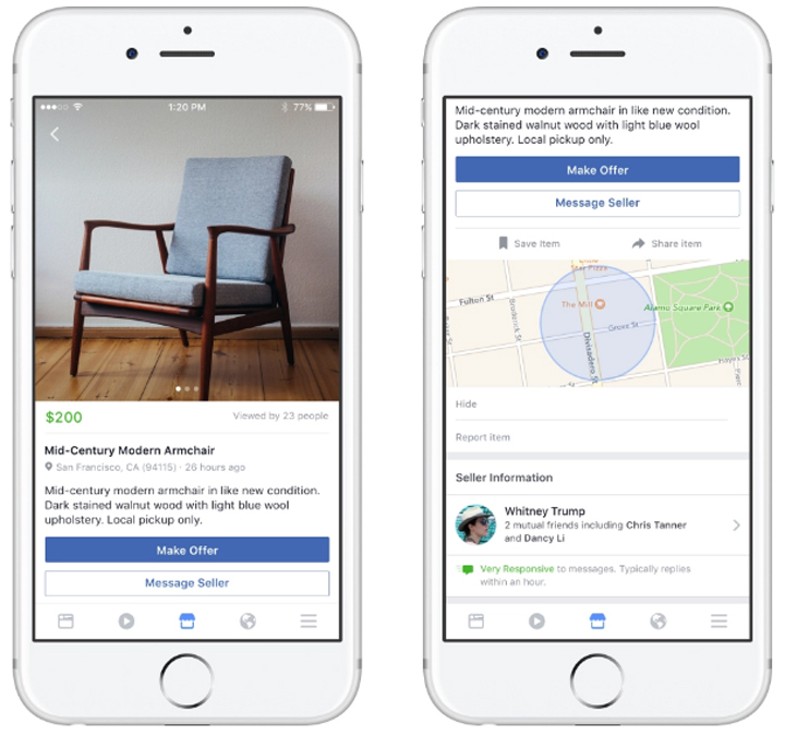 Marketplace is based off of existing user behaviour; according to Facebook, more than 450 million people visit buy and sell groups on the platform every month.