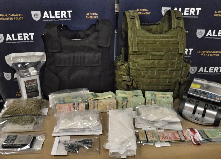 More than one kilogram of cocaine and nearly 150 fentanyl pills were seized from two Grande Prairie homes on Oct. 13, 2016.