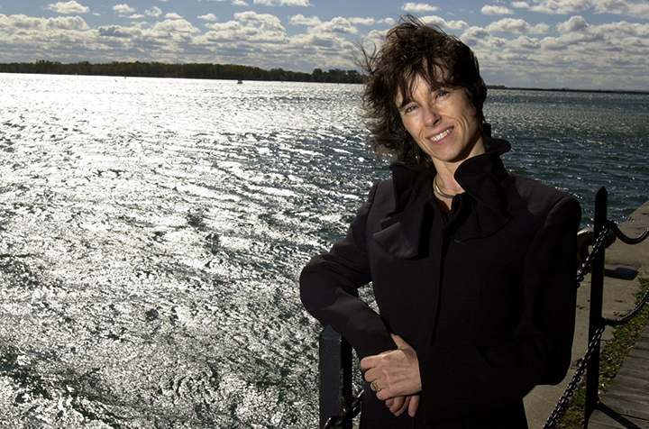 Environmental Commissioner Dianne Saxe is seen by the edge of Lake Ontario in Toronto Harbour in this file photo on Oct. 15, 2003.
