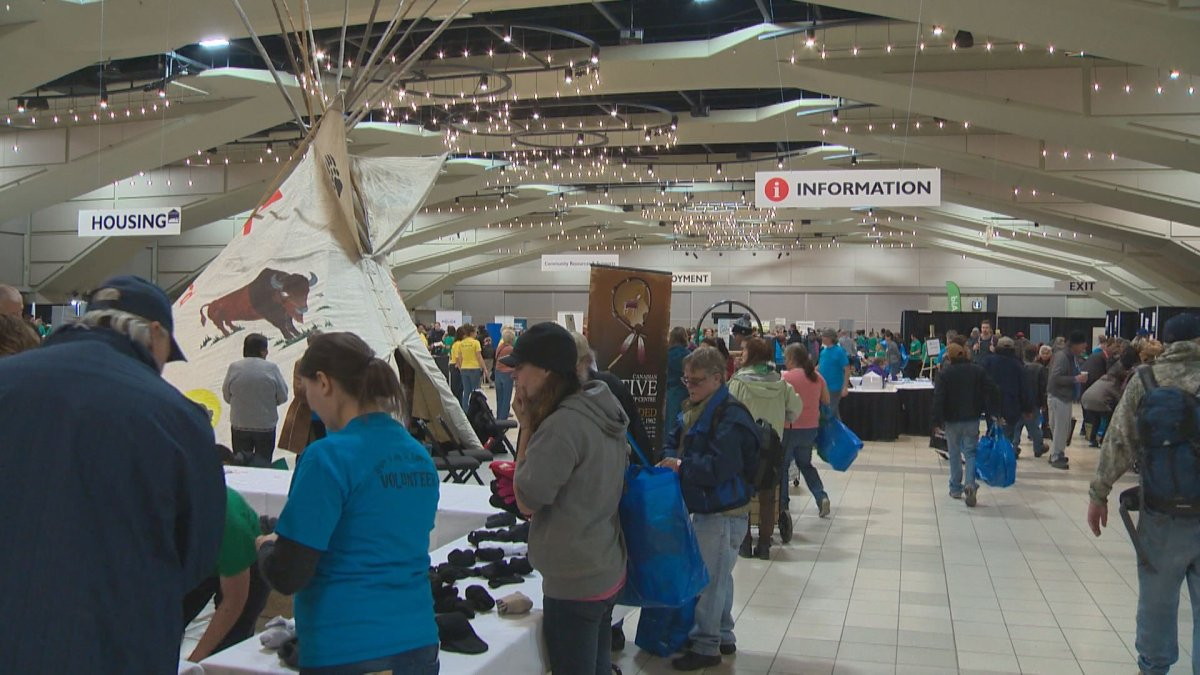 Thousands receive the help they need at the 17th annual Homeless Connect event at the Shaw Conference Centre.