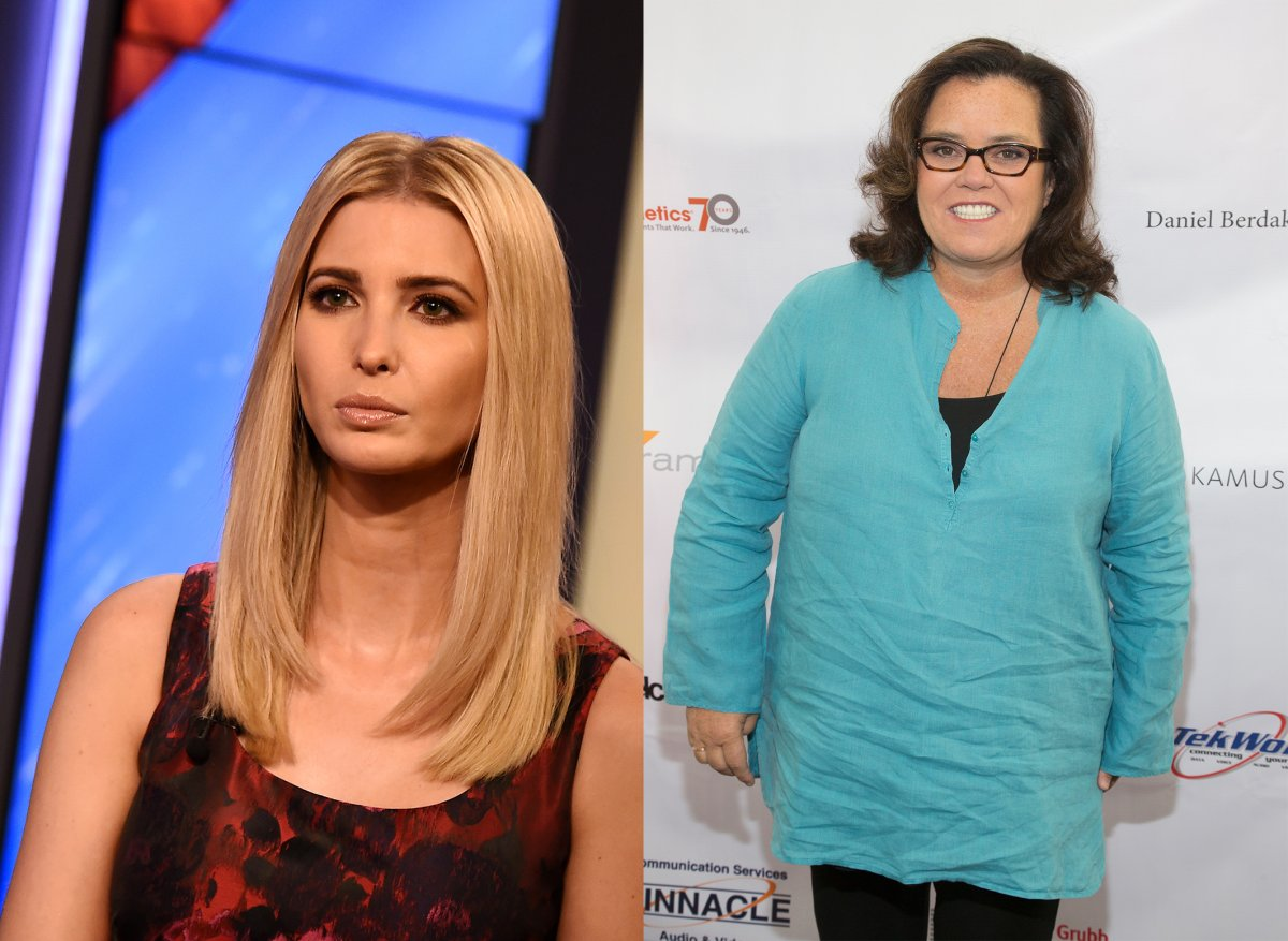 (L-R) Ivanka Trump and Rosie O'Donnell.